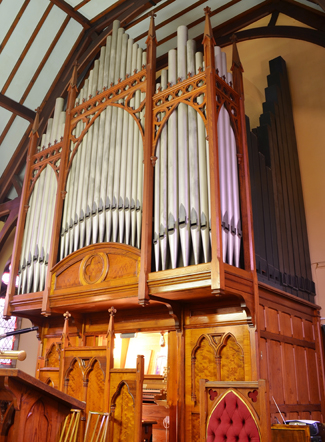 El órgano en la Riverside Methodist Church de Blairgowrie