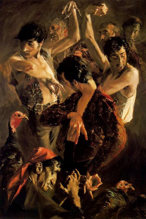 La danza de los pavos