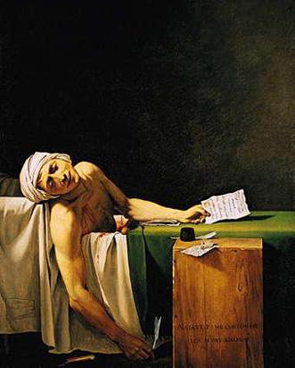 """""""La Muerte de Marat"""" por Jacques-Louis David - 1793."""