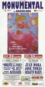 cartel última corrida barcelona