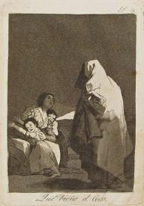 Que viene el coco (Los Caprichos) Goya