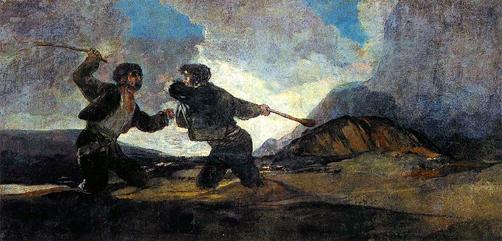 riñaagarrotazos Goya