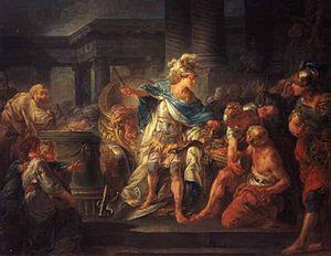 Alejandro cortando el nudo gordiano, de Jean-Simon Berthélemy (1743–1811)