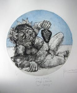 Grabado Dionisos guillermobermudo