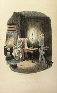 Fantasma de Marley por John Leech 1843