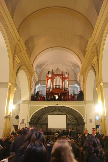 bendición del órgano de Santiago el Mayor de Alcalá de Gra..