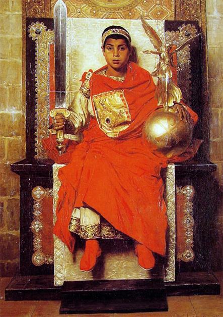 EL EMPERADOR HONORIO por Jean-Paul Laurens 1880