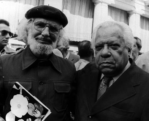 Ernesto Cardenal y Nicolás Guillén 1970