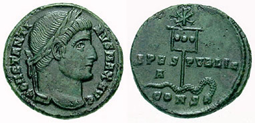 Moneda de Costantino (ca.327)