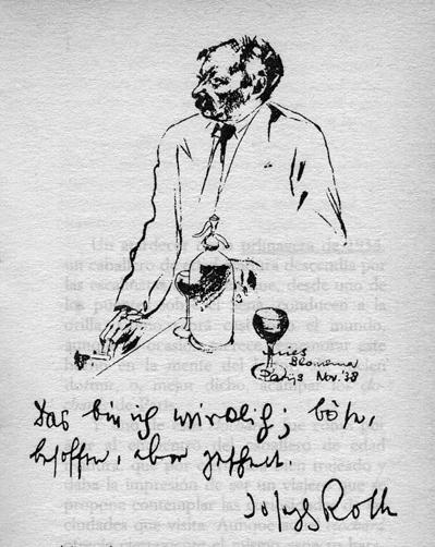Joseph Roth, Autorretrato