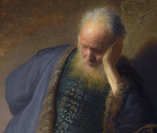Jeremías lamentando la destrucción de Jerusalén REMBRANDT (c. 1630)