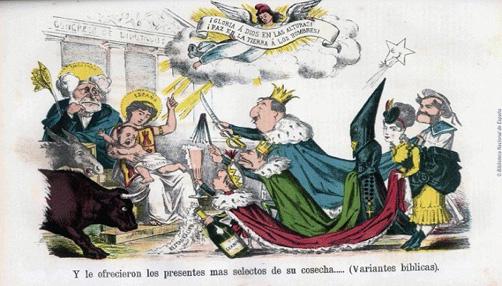 caricatura de la rev. 1868